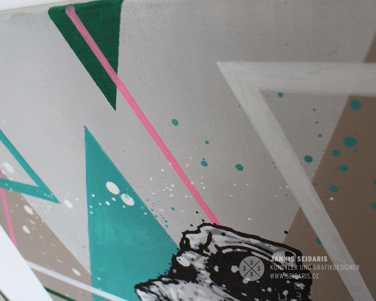 Spaceman street art grafikdesign kombo jannis seidaris for Grafikdesign koln