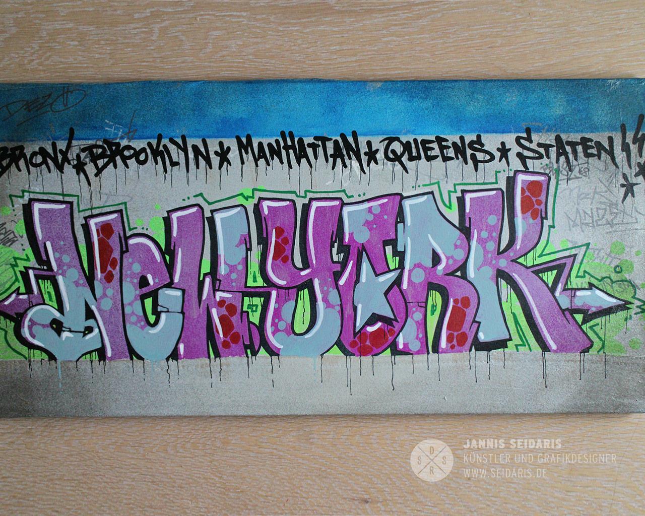 Graffiti Sprayer Köln Düsseldorf Bergisch Gladbach Leinwand New York Bronx Staten Island Queens